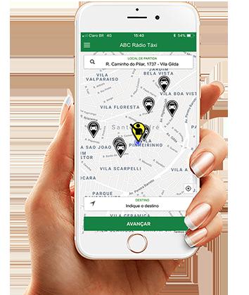 App ABC Rádio Táxi O aplicativo que permite você se conectar com